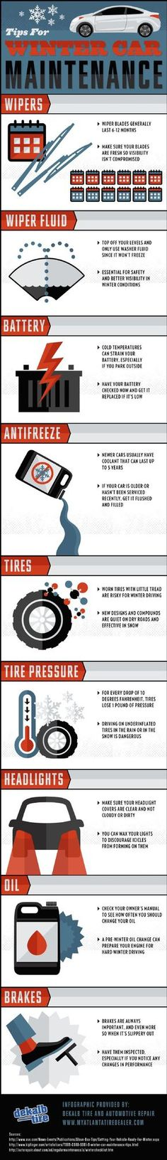Cold temperatures can strain your car battery, especially if you park outside! Take a look at this infographic from a car repair specialist in Atlanta to see how to prepare your battery and the rest of your car for the winter season.