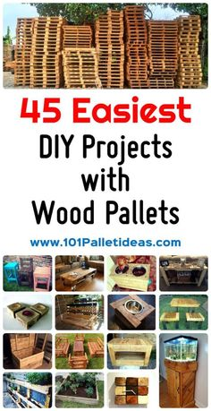 Pallet Designs 45 Easiest DIY Projects with Wood Pallets, You Can Build - Easy Pallet Ideas - We are going to share with you almost 45 creative wood pallet projects and ideas ranging from indoor furniture and decor to outdoor improvement projects Pallet Ideas Easy, Diy Ideas, Pallett Ideas, Decor Ideas, Pallet Playroom Ideas, Wood Ideas, Rustic Pallet Ideas, Diy House Ideas, Palette Diy