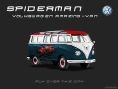 VW-combi-spiderman