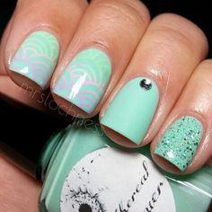 Pastel mix n match nails art♥ @ mrslochness