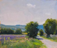 Julien Merrow Smith  daily painting titled Summer road - click for enlargement