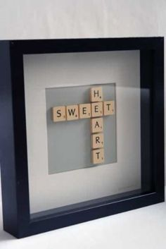 Brigitte Herrod - Scrabble SWEET HEART Picture cute idea for inspiring words to hang up in your childs room