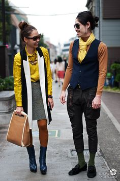 japanese chic street  | Vest | Japanese fashion and Tokyo street style - Tokyofaces.com