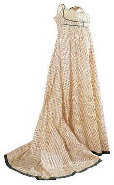 c. 1797 Robe ayant appartenu à Mme Oberkampf © Musée de la Toile de Jouy
