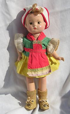 """10"""" Vintage Effanbee Composition Patsyette Doll in Original Costume 1930s"""