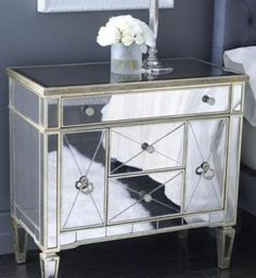 Mirrored bedroom furniture - mirror furniture for sale - Horchow mirrored furniture.jpg