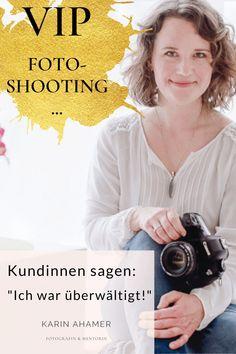 Jede Frau verdient es, wunderschöne Fotos von sich zu haben! Das VIP-Wohlfühl-Fotoshooting ist ein einzigartiges Erlebnis. Warum? Einige meiner Kundinnen berichten hier über ihren Erlebnistag vor meiner Kamera #FotoshootingFrauen #FotosPortraitFrauen #AuthentischePortraits | karinahamer.com