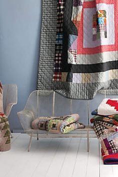 {partial view, not perfect/messy}  #bywstudent  ::  Quilts