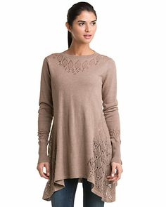 "Neve Design ""Veronic"" Truffle Tunic Sweater"