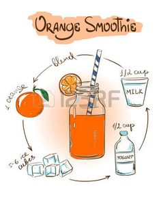 Fruit smoothies are a popular refreshment not only for adults but even for the little ones as well. With their natural sweet flavors, it is no wonder that many children love fruit smoothies and can… Yummy Smoothies, Yummy Drinks, Sketch Menu, Recipe Drawing, Orange Smoothie, My Best Recipe, Recipe Recipe, Food Journal, Food Drawing