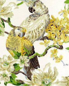322315 Eijffinger Lavender Dream multicoloured floral parrots Wallpaper   eBay