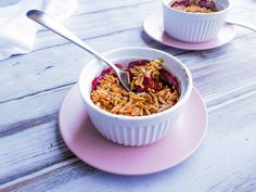 Tamarillo Crumble Sweet T, Delicious Fruit, Cereal, Puddings, Breakfast, Desserts, Recipes, Food, Morning Coffee