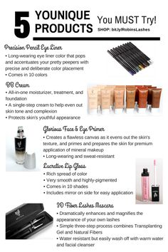 5 products to try! 14 day LOVE IT guarantee or your money back!  www.youniqueproducts.com/Giannamaria