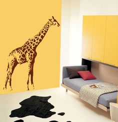 Giraffe Jungle Zoo Boy Kid Mural Wall Decor Vinyl Decal | eBay