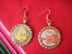 Disney Little Mermaid Sea Friends Earrings by TeddyBearsJunk,