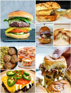Let the grilling commence. It's burgers season, and these recipes will have you flipping all summer. Pretzel Cheese, Pretzel Bun, Italian Burger, Cheeseburger Sliders, Delicious Burgers, Tasty, Yummy Food, Creative People, Mac And Cheese