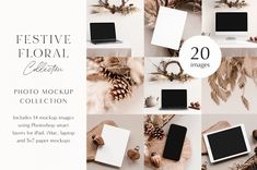 Festive Florals Photo Mockup Bundle - MOYO Studio