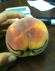 peach spreading butt cheeks