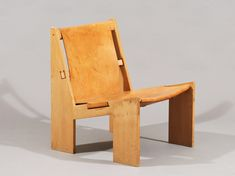Uno & Østen Kristiansson; Oak and Leather Easy Chair for Luxus AB, c1967.