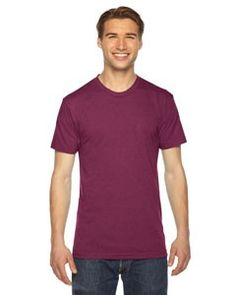 American Apparel Unisex Triblend Short-Sleeve Track T-Shirt TR401