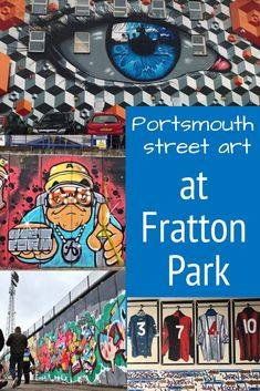 Fratton Park has a great street art scene, with some awesome murals outside the ground and a great project inside, making it well worth a visit. Brighton Shops, Custom Vespa, Illustration Courses, Geometric Stencil, Best Places To Travel, Fashion Room, Urban Art, Fun Activities
