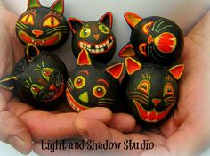 SpookyTimeJingles | Where Sweet and Spooky Commingle | Halloween Kitties Bowl Fillers by Light and shadow Studio