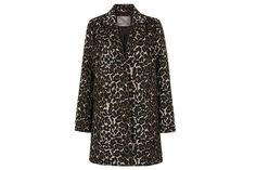 Tailored leopard print coat for all occasions