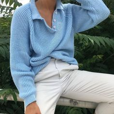 "522 gilla-markeringar, 6 kommentarer - Na Nin Vintage (@naninvintage) på Instagram: ""Vintage incredible softest powder blue 80s sweater fits xs-l frames $42 + shipping SOLD"""