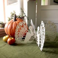 free paper cut template - Thanksgiving Turkey - by Cindy Bean