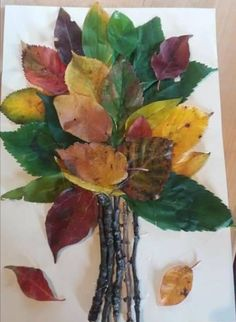 Use leaves and sticks to MAKE TREES with your senior residents as decoration for Tu B'Shevat at your nursing facility