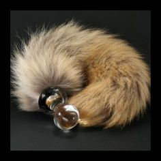 Crystal Delights Crystal Minx Tail Plug Coyote. The perfect accessory for fantasy /pet-play. Unique and artisan crafted from real fur, for special plug lovers. Because they are made by hand no Crystal Delight is the same, each piece is an object of art created by experts in glass and fur, especially designed for adults and with a special purpose in mind. The real fur comes from 'refused parts' that otherwise would have been thrown away.