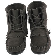SoftMoc Women's 2151 grey suede TPR sole bootie moccasins 2151 GREY