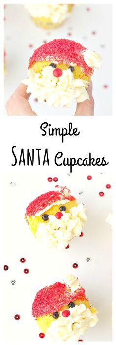 Simple Santa Cupcake