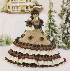 Holiday Doll Dress, Fashion Doll Clothes Crochet Pattern Pages BYOB Build Ur Own Binder of Favorites