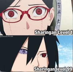 The first level - sarada has a long way to go
