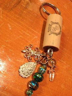 Handmade wine cork keychains