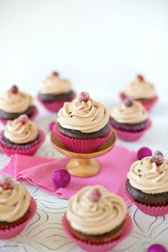 CHOCOLATE Cupcakes with Chocolate Mascarpone Frosting #chocolate #cupcakesrecipes #cupcakes http://thecupcakedailyblog.com/chocolate-cupcakes-with-chocolate-mascarpone-frosting/