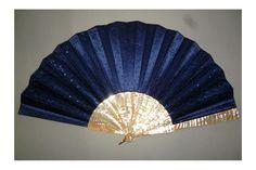 Blue ! Late 19th century fan - fan d'éventails