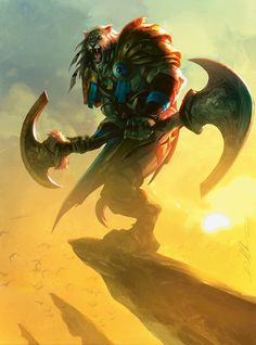 MtG Art: Planeswalkers of Magic the Gathering Magical Creatures, Fantasy Creatures, Mtg Art, Magic The Gathering Cards, Fantasy Races, Fantasy Monster, Fantasy Illustration, Fantasy Artwork, Furry Art