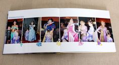 """Álbum Disney """"Where Dreams Come True"""". Jantar com as princesas. Diagramação @allpictures @waltdisneyworld #diagramacaodealbum #albumdeviagem #disney #ferias #magickingdon"""