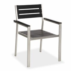 Ch C051 Stainless Steel Frame Plastic Wood Top Outdoor Chair Chairs Furniture Decor