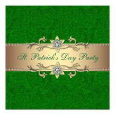 Elegant St. Patrick's Day Party Invitation Green In our offer link above you will seeReview          Elegant St. Patrick's Day Party Invitation Green Review on the This website by click the button below...