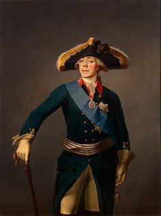 Portrait of TSAR PAUL I   of Russia by Stepan Shchukin. Son of Peter III and Catherine the Great
