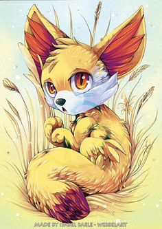 Pokemon: Fennekin by tikopets on deviantART
