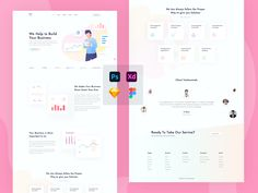 Hello guys,   This is my new template for business, I used all kind of design tool to create this, if you need any other page, contact me. Thanks Tool Design, Web Design, Landing Page Design, Concept, Templates, Website, Guys, Create, Business