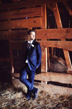 groom in #rustic setting of barn. @marindamarshallfowler