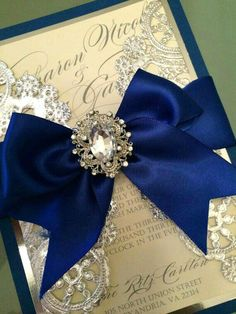 Royal Blue and Silver Wedding Invitations Quince Invitations, Blue Wedding Invitations, Wedding Themes, Wedding Cards, Wedding Colors, Wedding Ideas, Party Themes, Invites, Graduation Invitations