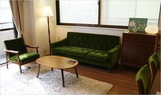 sofa カリモク60 Sofa, Couch, Small Apartments, My Room, Tiny House, Love Seat, Upholstery, Interior Design, Furniture