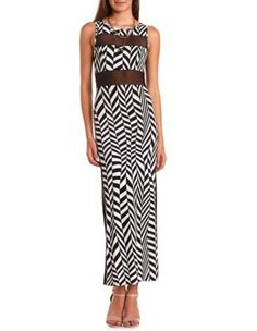 mesh inset geo maxi dress, $28.99 @ Charlotte Russe