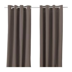 MERETE Pair of curtains - brown - IKEA
